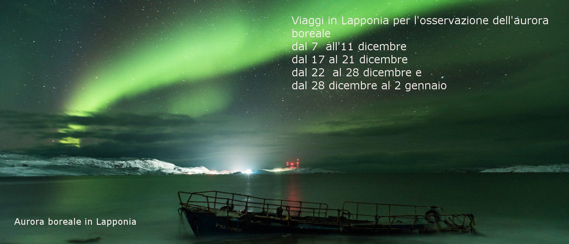 Viaggio in Lapponia per osservazione aurora boreale
